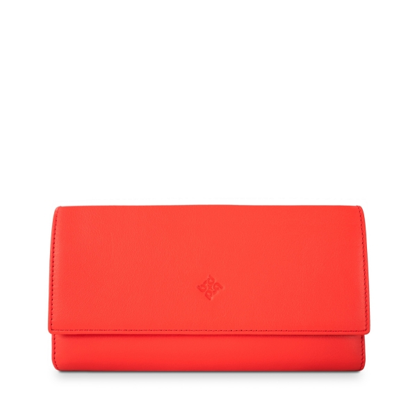 Flap Over Wallet in Calf Leather