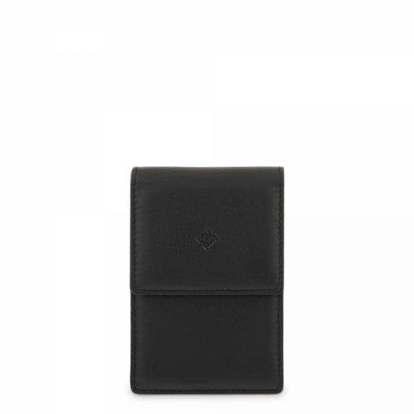 Leather Cigarette Case for women in Black color