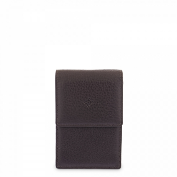 Leather Cigarette Case for women in Brown color