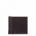 Leather Clip Wallet for men in Brown color