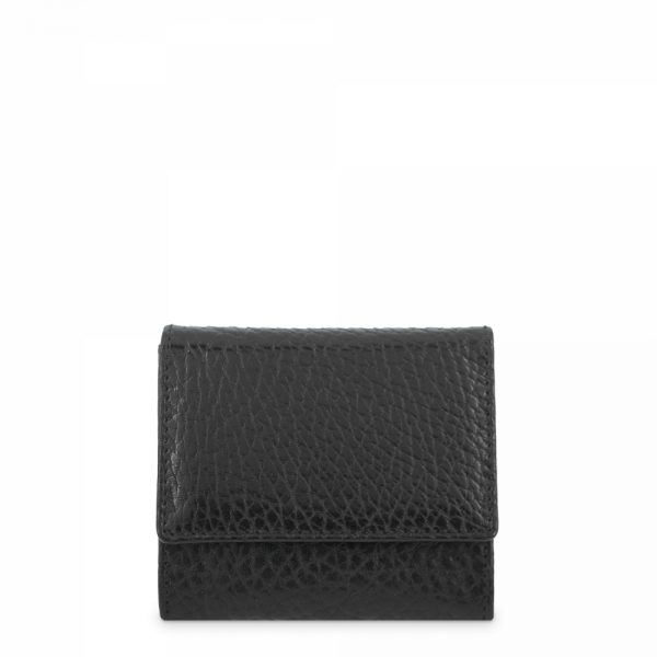 Leather Coin Purse for men in Black color