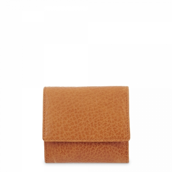 Leather Coin Purse for men in Tan Leather color