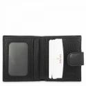 Leather Wallet Card Holder for men in Black color