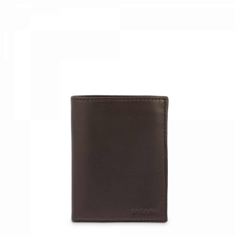 Leather Purse Wallet for men in Brown color