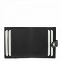 Leather Wallet Card Holder unisex in Black color