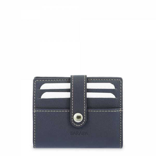 Leather Wallet Card Holder unisex in Blue color