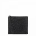 Leather Clip Wallet for men in Black color