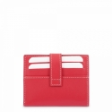 Leather Wallet Card Holder unisex in Red color