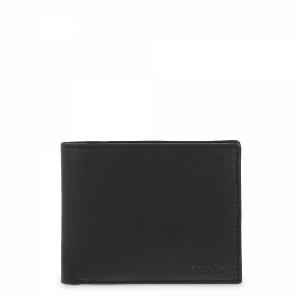 Horizontal Leather Wallet for men in Black color