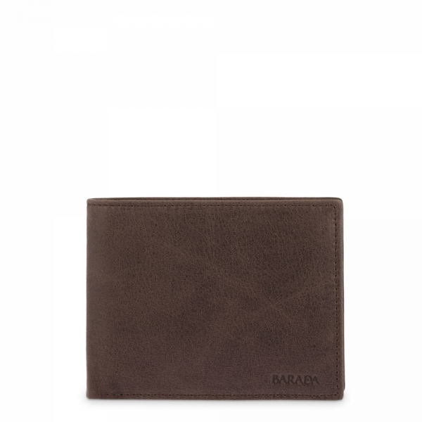Horizontal Leather Wallet for men in Brown color