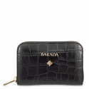 Leather Zip Wallet for women in Black color
