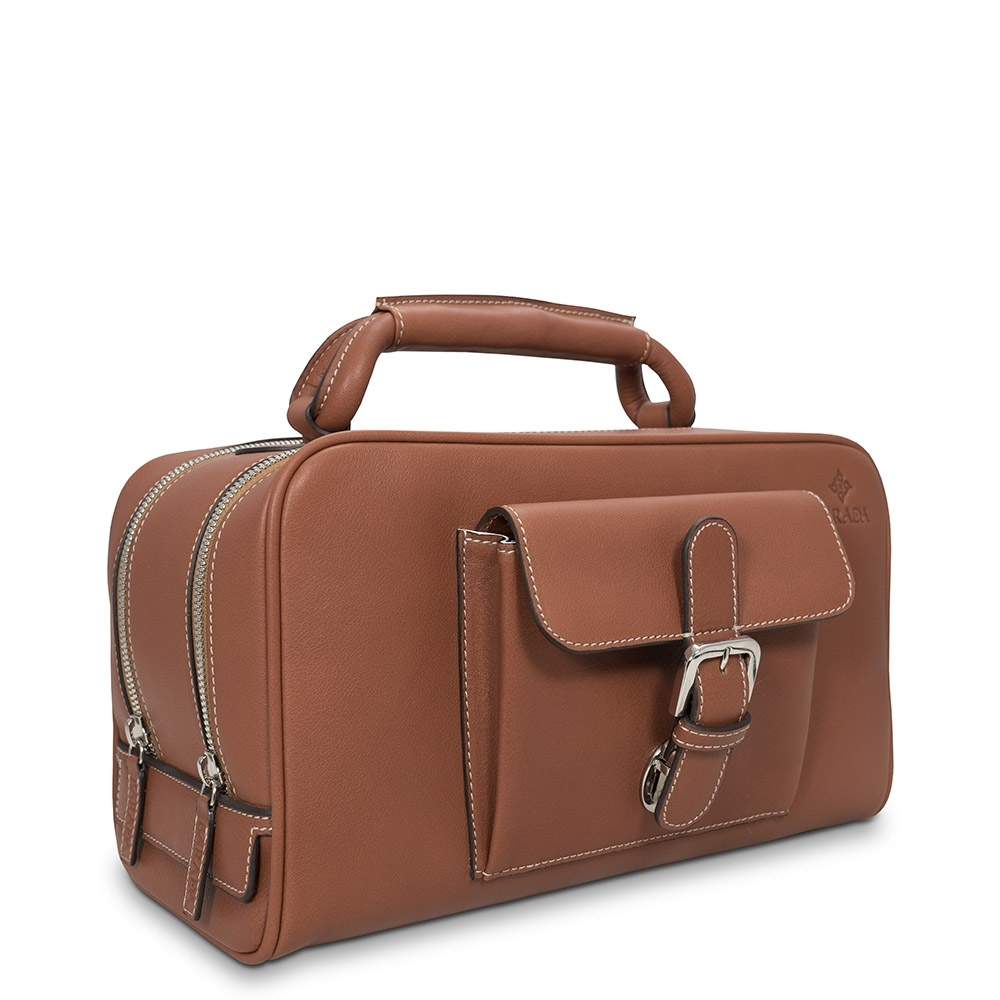 Barada Men's Washbag in Tan colour