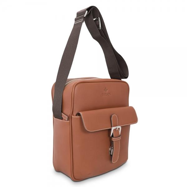 Barada Men's Large Crossover bag in Tan Colour