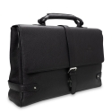 Barada Men's Single Gusset Soft Briefcase in Black Colour