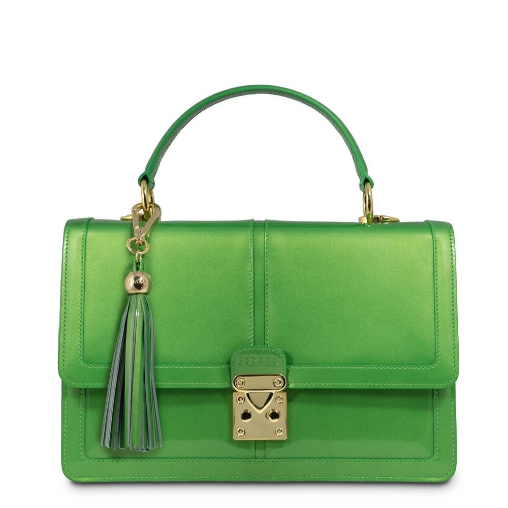 Handbag Thais Collection in Patent Calf Leather