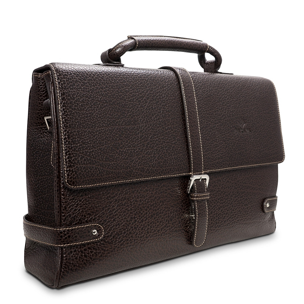 Barada Men's Single Gusset Soft Briefcase in Brown Colour