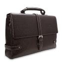 Barada Men's Single Gusset Soft Briefcase in Brown Colour