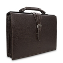 Barada Triple Gusset Document Holder in Brown Colour