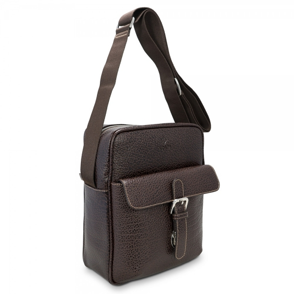Barada Men's Large Crossover bag in Brown colour