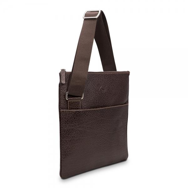 Barada Men's Flat Crossover bag in Brown colour