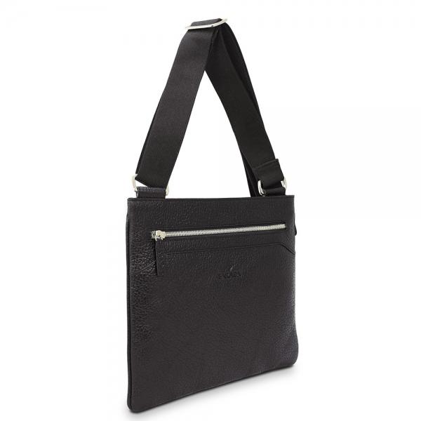 Barada Men's Flat Crossover bag in Black colour
