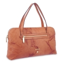 Top Handle Bag in cow leather and tan colour