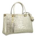 Medium HandBag in Cow Leather and Gold color