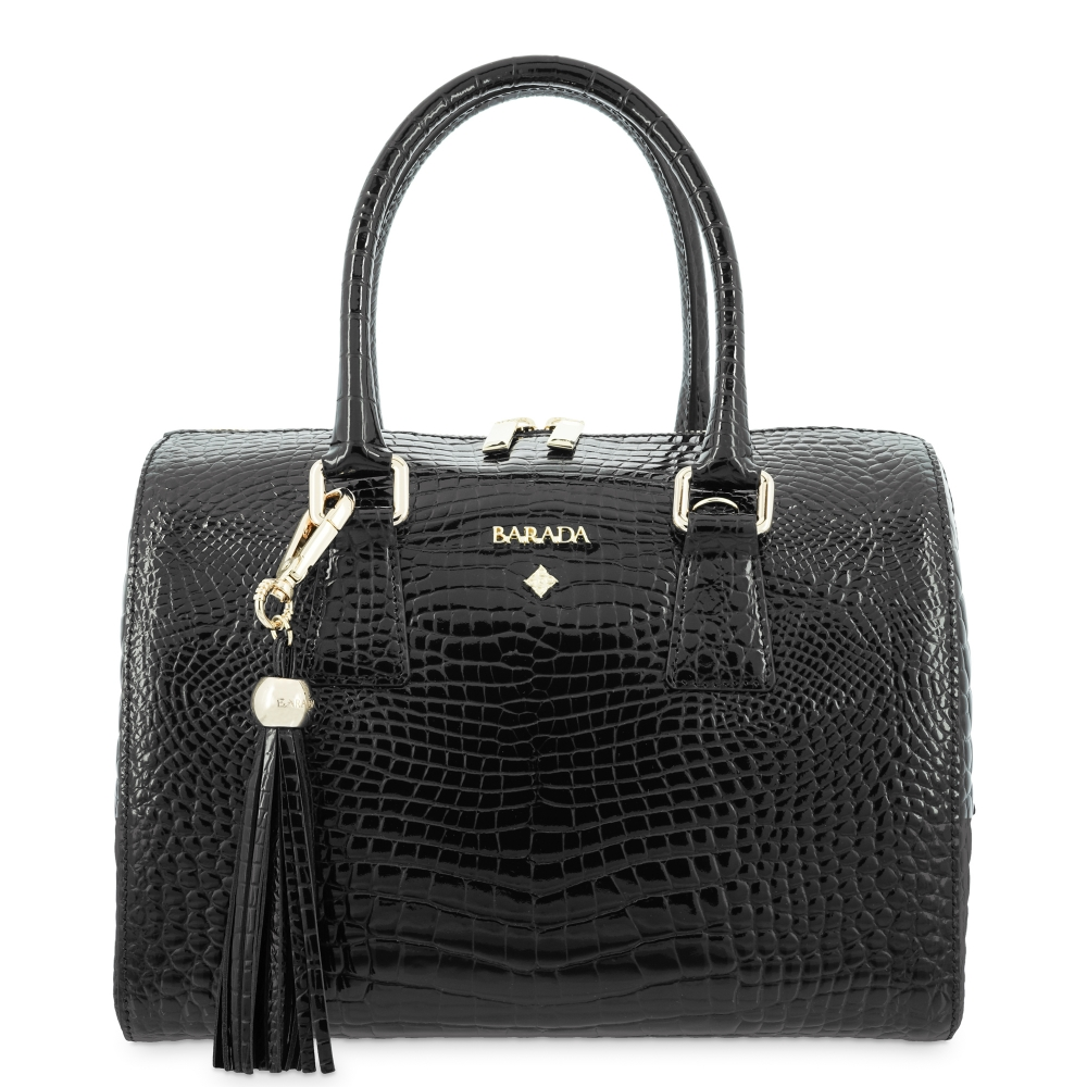Bowling bag from in Cow Leather and Black color