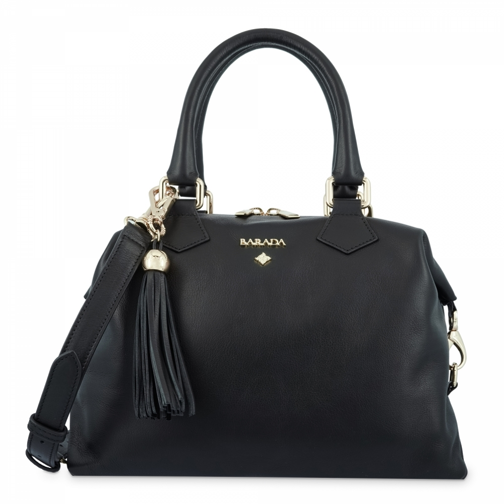 Bowling Bag in Cow Leather and Black color