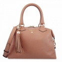 Bowling Bag in Cow Leather and Tan color