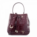 Top Handle HandBag in Cow Leather (Animal Print) and Bordeaux color