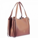 Shoulder Bag in Cow Leather and Tan color
