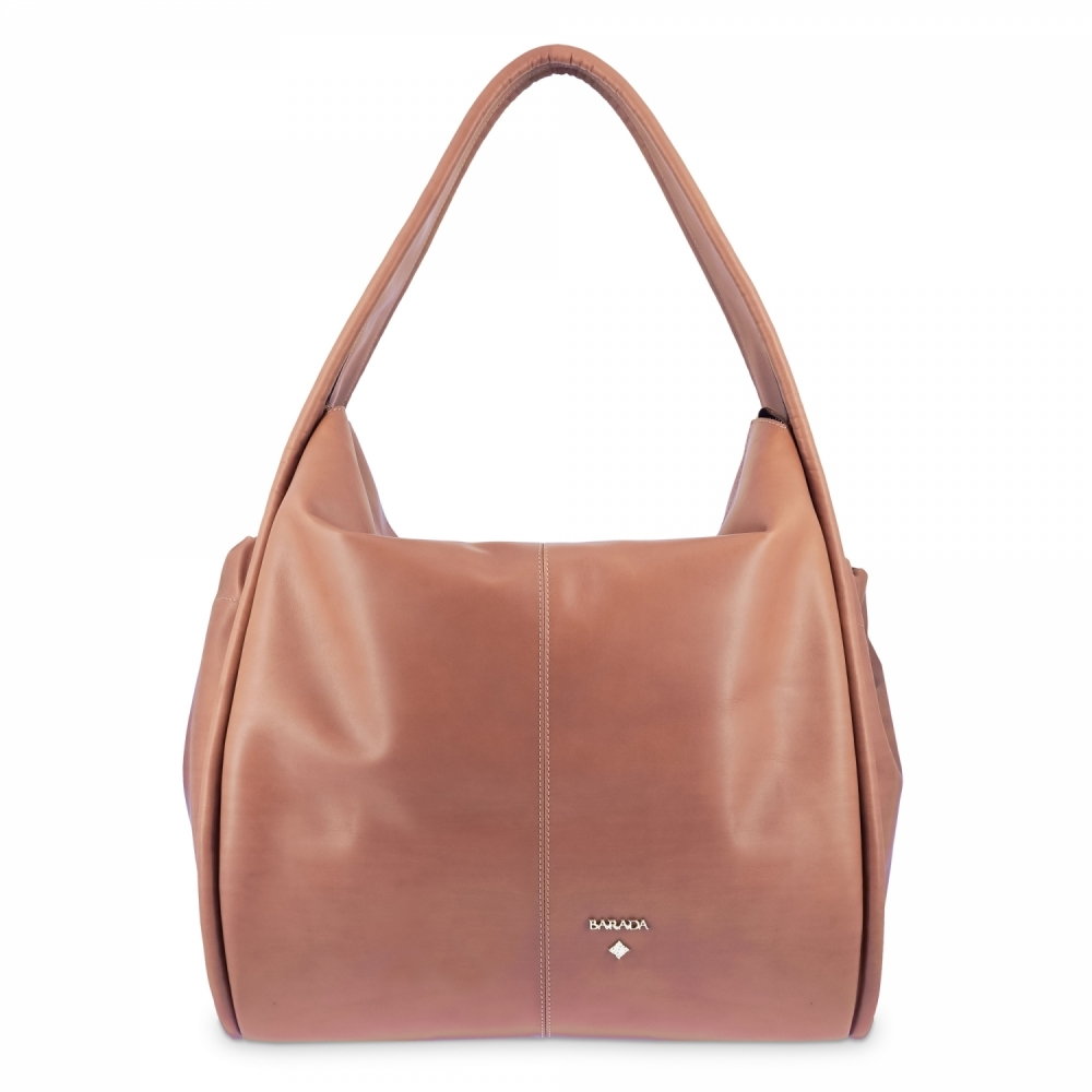 Tote Bag in Cow Leather and Tan color