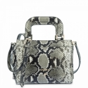 Mini Bag in Cow Leather (Snake Print) and Natural color