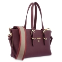 Mini Bag in Cow Leather and Bordeaux color