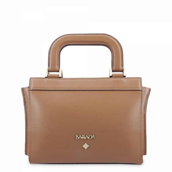 Mini Bag in Cow Leather and Tan color