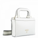 Mini Bag in Cow Leather and White color