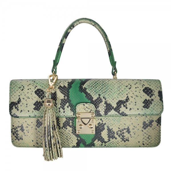 Hand bag from our Thais collection in Calf Leather (snake print)