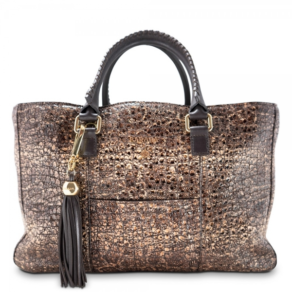 Tote-Shopping bag from our Moira collection in Lamb Skin (grainy finish)