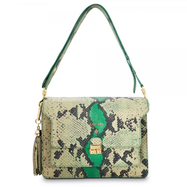 Shoulder bag from our Morgana collection in Calf Leather (Snake print)