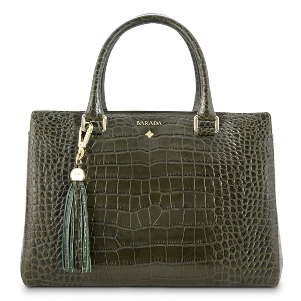 Medium Tote Handbag from our Lady Nada collection in Calf Leather, (croc print)
