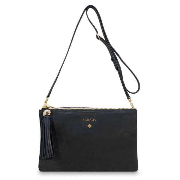 Crossover Double Pouch Bag from our Shiva colleciton in Calf Leather (Nubuck finish)