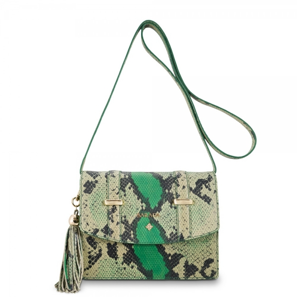Cross Body bag from our Surya collection in Calf Leather (snake print)