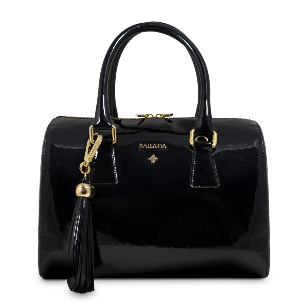 Bowling Bag Thais Collection in Patent Calf Leather