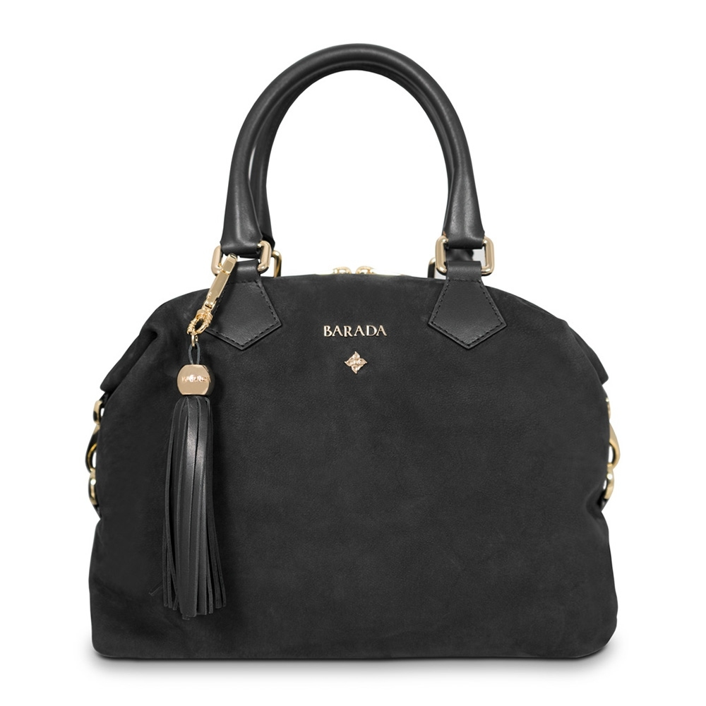 Bowling handbag from our Minerva collection in Calf Leather (Nubuck finish)
