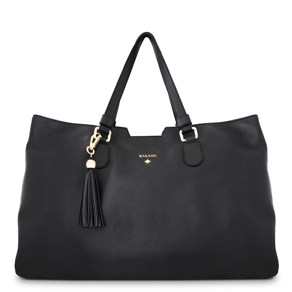 Shopping double-handle handbag from our Alexa collection in Calf Leather, (Antelope finish)