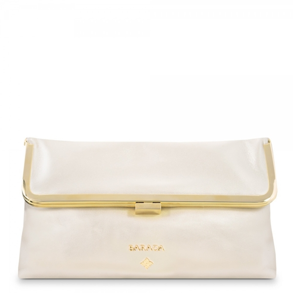 Cross body Clutch from our Nayades collection in Lamb Skin (metallic finish)