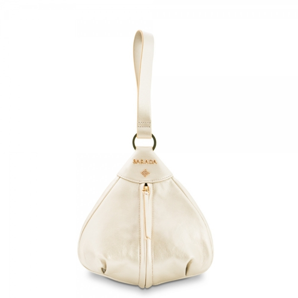 Wristlet Collecting Tin Bag from our Nayades collection in Lamb Skin (metalic finish)