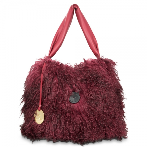Shoulder bag from from our Nefeles collection in Goat of Mongolia hair Leather
