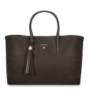 Tote-Shopping handbag from our Uranias collection in Calf Leather (Nubuck finish)